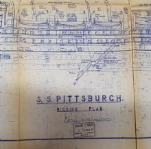 SS Pittsburgh Rigging Plan